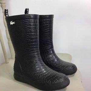 LACOSTE Women's Raincourt Croc Boot 6